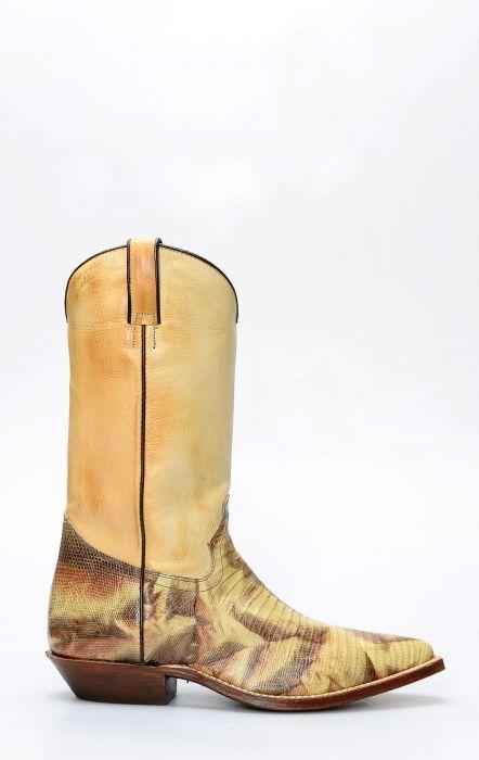 Stivali Texani Tony Mora in lucertola camuflage