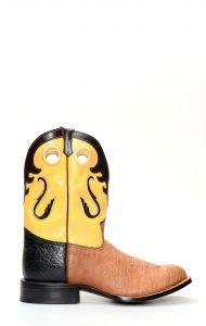 Stivali Texani Jalisco in pelle di bisonte marrone