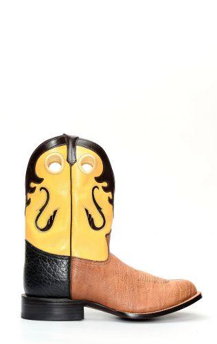 Stivali Jalisco in pelle di bisonte marrone