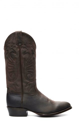 Jalisco boots in dark brown greasy leather