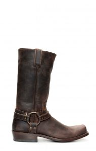 Dark blue Jalisco biker boots with broad square toe