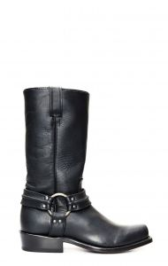 Jalisco biker boots black square toe wide
