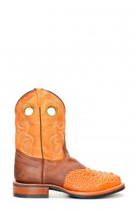 Jalisco light brown crocodile printed work boots