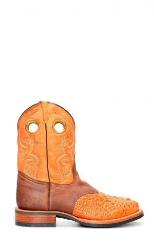 Stivali Texani Jalisco da lavoro marrone chiaro stampato coccodrillo
