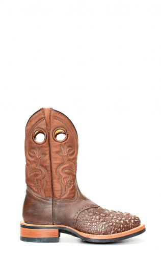 Brown crocodile printed Jalisco work boots