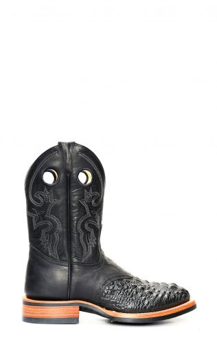 Bottes de travail Jalisco en crocodile noir