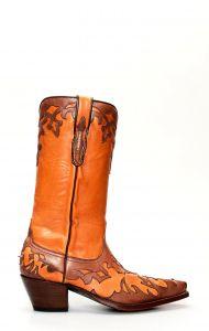 Stivali Texani Tony Mora in pelle marrone