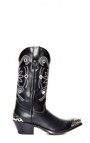 Bottes Tony Mora noires avec accessoires
