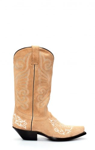 Suede Jalisco boots with embroidery