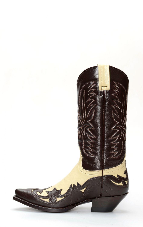 Stivali Jalisco stile texano bicolore marronepanna   911