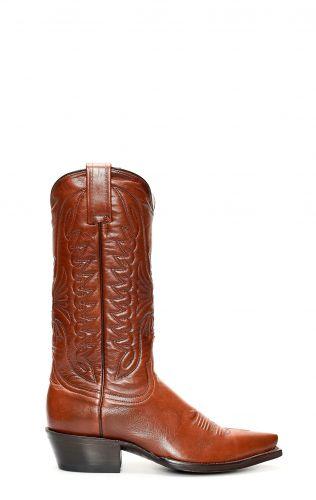 Stivali Texani Jalisco in pelle giovane testa di moro