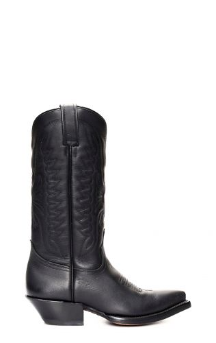 Black Texan style pointed Jalisco boots