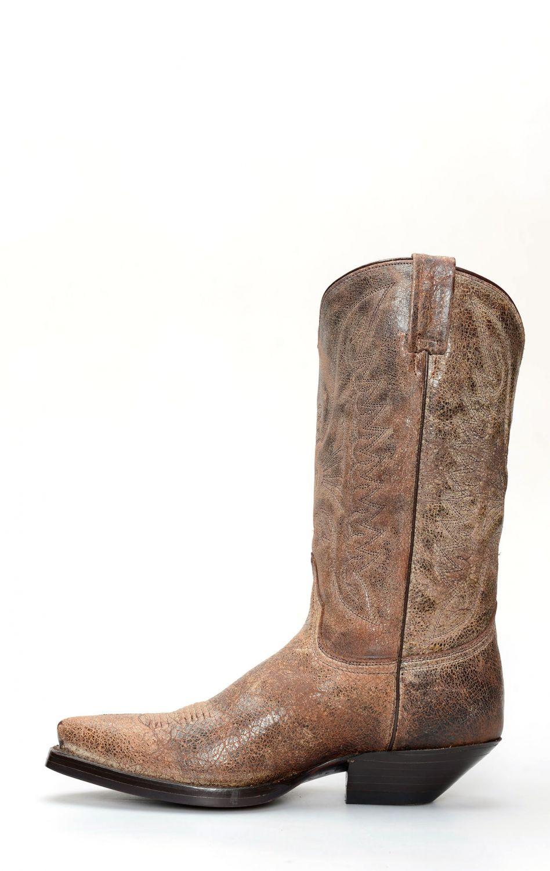 dffd9f4c4a656 Stivali Jalisco stile texano in pelle invecchiata
