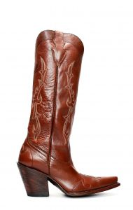 Jalisco boots in young brown leather with high heel and upper
