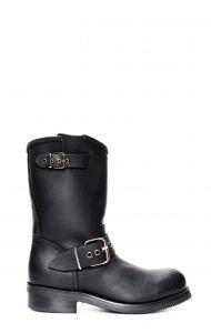 Black Jalisco biker boots
