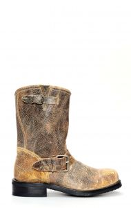 Jalisco biker boots in light brushed aged leather