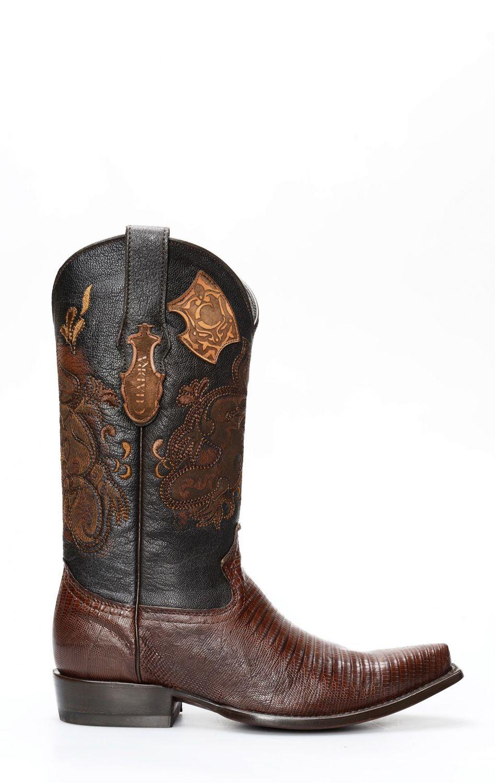 Stivali da cowboy pelle di lucertola verde in pelle come   Etsy