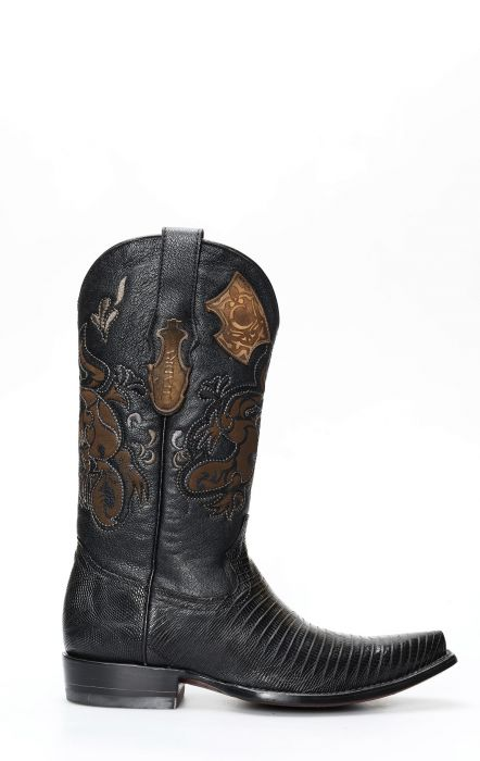 Cuadra black lizard boot