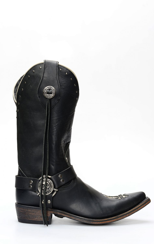 Cowboy Western Stiefel Biker Liberty Black 85302.