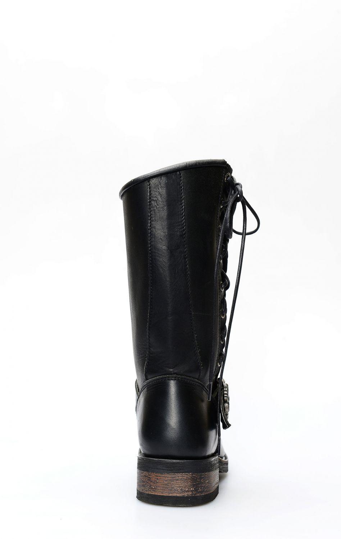 Stivali biker Liberty Black con lacci laterali | Stivali