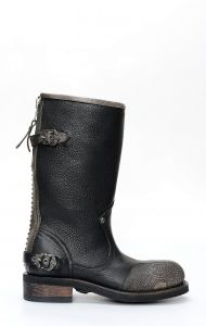 Liberty Black biker boots with embroidery
