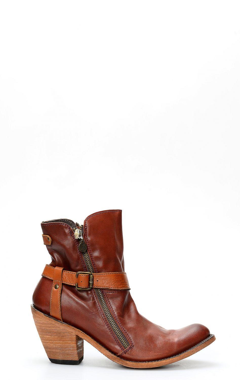Stivaletto Liberty Black Testa Di Moro con cinturini texani bottes camperos