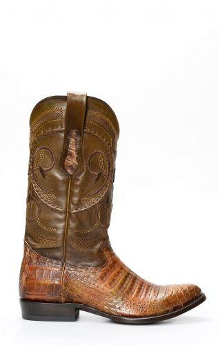 Cuadra boots in brown crocodile