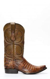 Stivali Texani Cuadra in coccodrillo