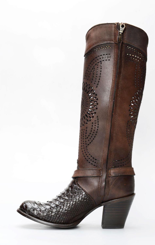 Women's Cuadra boots in python | 1Z27PH