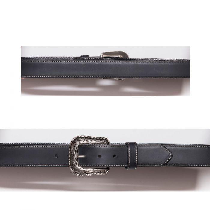 Cintura nera con cucitura a contrasto