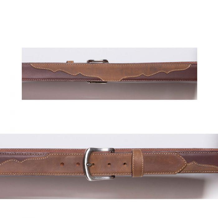 Cintura marrone con mascherina a contrasto