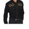 Black Scully western shirt with contrasting embroidery with star