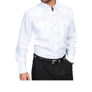 Camicia western by Scully bianca in cotone leggero
