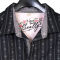 Western shirt by Scully with lines designed with skulls