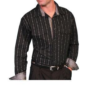 Chemise Western par Scully avec des lignes conçues avec des crânes