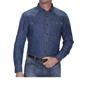 Camicia western by Scully stile blu invecchiato