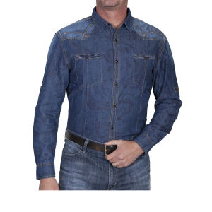 Western blue shirt by Scully aged blue