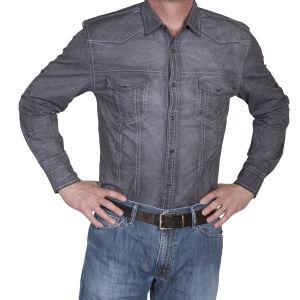 Camicia western by Scully grigio invecchiato