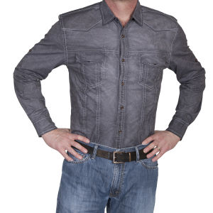 Western gray shirt by Scully aged