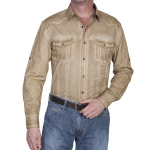 Western shirt by Scully aged brown