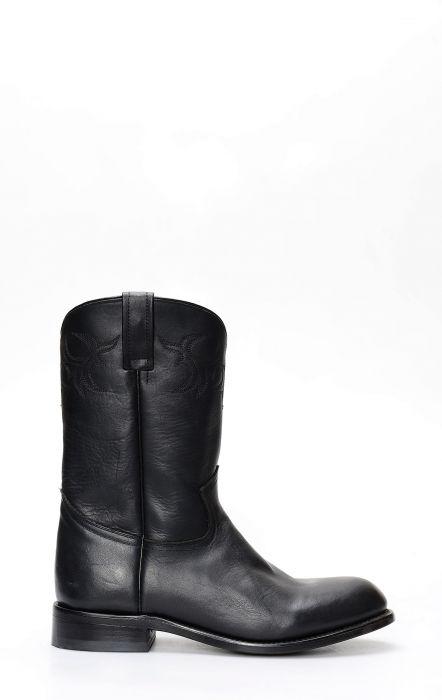 Bottes Caborca en cuir noir