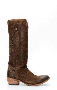 Liberty Black boots in dark brown nubuck leather