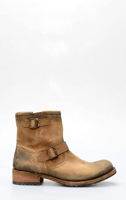 Liberty Black ankle boot short brown with zip