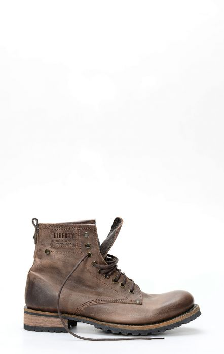 Boot with laces Liberty Black dark brown