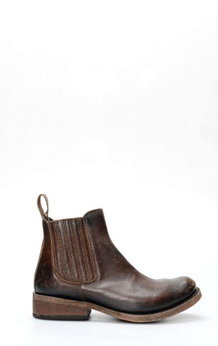 Kurzer Stiefel von Liberty Black; Braunes echtes Leder