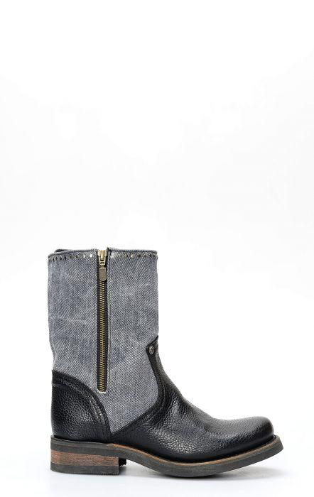 Stivali boots Liberty Black biker con zip