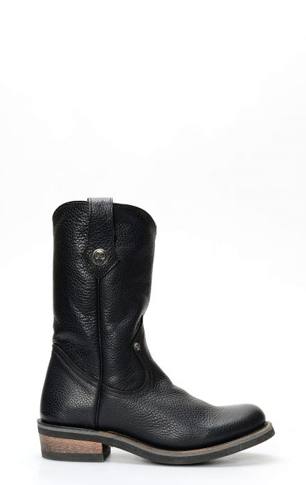 Liberty Black biker boots in black leather