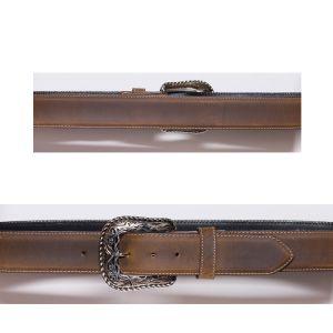 Cintura color miele con cucitura e bordo a contrasto