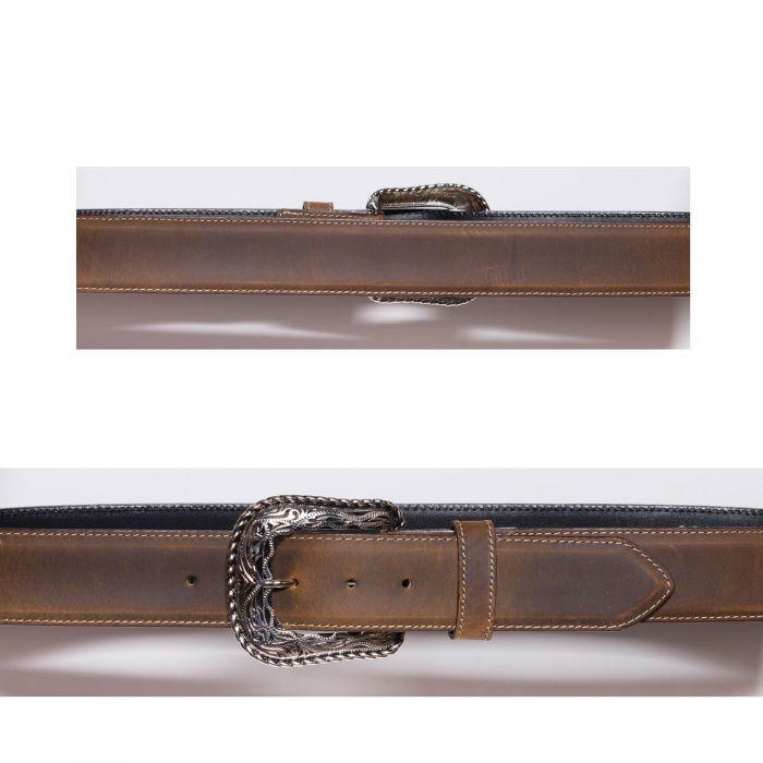 Cintura color miele con cucitura a contrasto