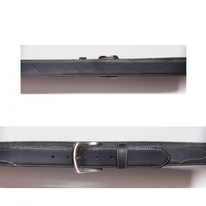 Cintura nera con bordo e cucitura a contrasto